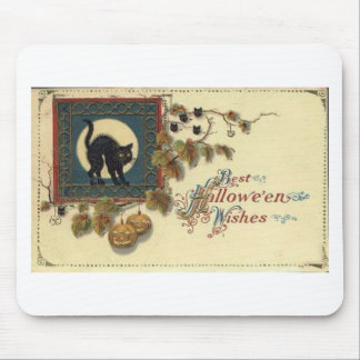 Vintage Halloween Greeting Cards Classic Posters Mouse Mat