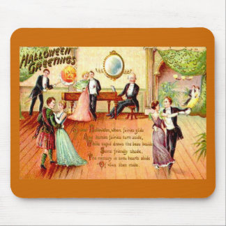 Vintage Halloween Greetings Dancing Mouse Pad