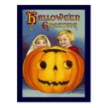 Vintage Halloween Greetings Post Card