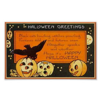 Vintage Halloween Greetings Posters