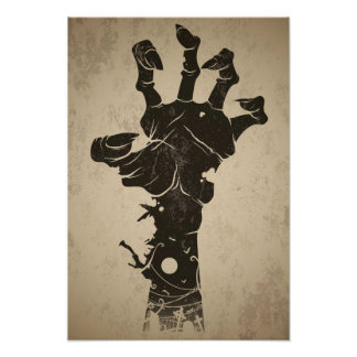Zombie posters from Zazzle