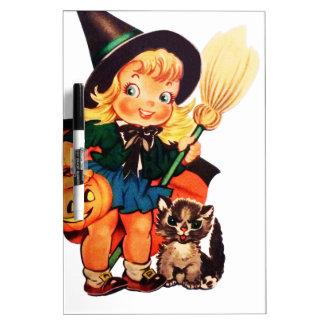 Vintage Halloween Images Dry Erase Board