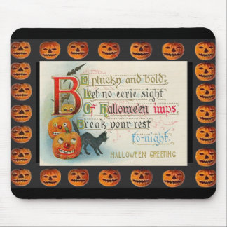 Vintage Halloween Imp Mouse Pad