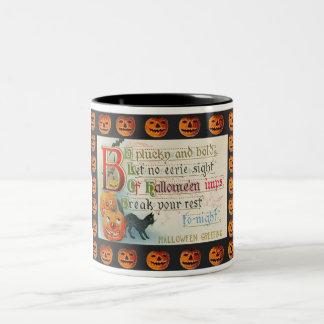 Vintage Halloween Imp Two-Tone Mug
