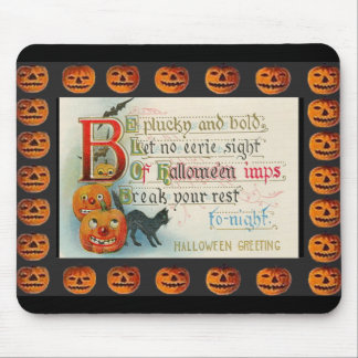 Vintage Halloween Imps Mouse Pad