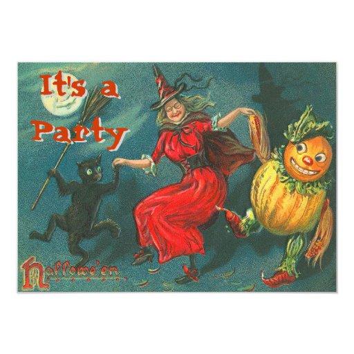 """Vintage Halloween Invitations 4.5"""" X 6.25"""" Invitation Card"""