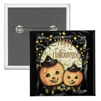 Vintage Halloween Jack-o-lantern Button