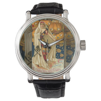 Vintage Halloween Jack O Lantern Girl Wrist Watch