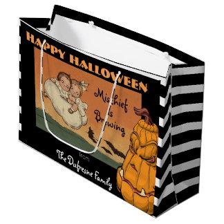 Vintage Halloween Large Gift Bag