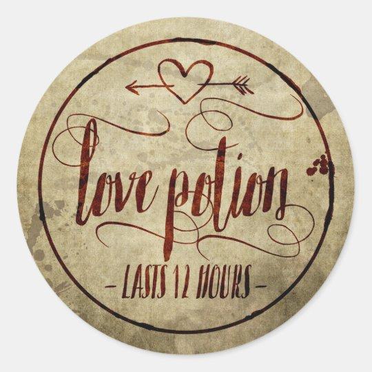 Love Potion Drink Labels: Vintage Halloween Love Potion Label
