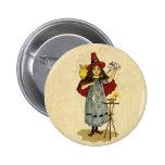 Vintage Halloween Magic 6 Cm Round Badge