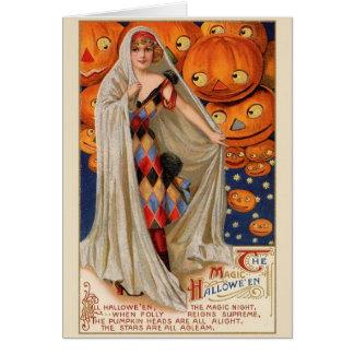 Vintage Halloween Magic Greeting Card