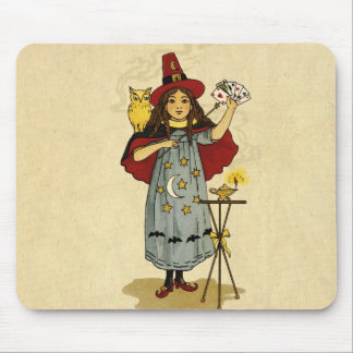 Vintage Halloween Magic Mouse Pad