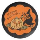 Vintage Halloween Melamine Plate