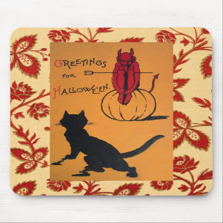 Vintage Halloween Mouse Pads