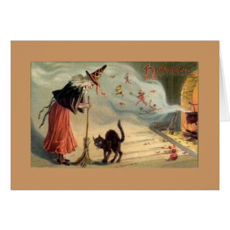 Vintage Halloween Note Card