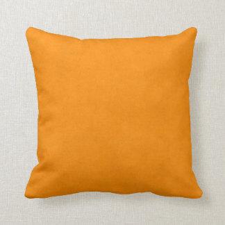 Vintage Halloween Orange Parchment Paper Texture Cushion