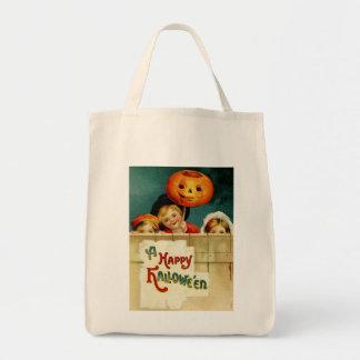 Vintage Halloween Organic Grocery Tote Grocery Tote Bag