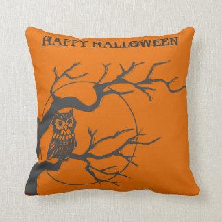 Vintage Halloween Owl Cushion