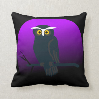 Vintage Halloween Owl Cushion