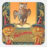 Vintage Halloween Owl Stickers - Trick or Treat