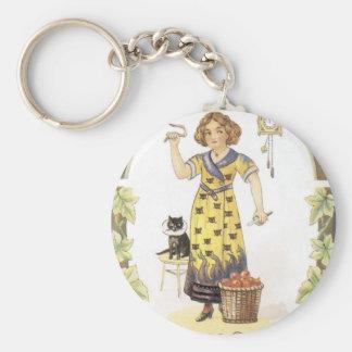 Vintage Halloween Painting Keychain