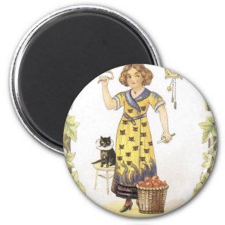 Vintage Halloween Painting Magnet