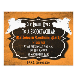 Vintage Halloween Party or Sales Flyer