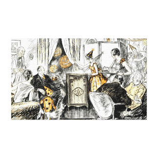 Vintage Halloween Party Trick or Treat Canvas Print