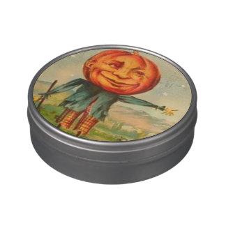 Vintage Halloween Peekaboo Holiday tin Jelly Belly Tin