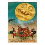 Vintage Halloween Postcard Greeting Card