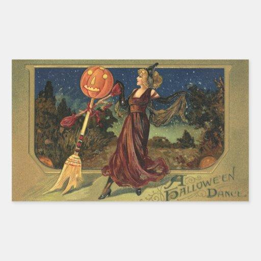 Vintage Halloween, Pretty Witch Dance Stickers