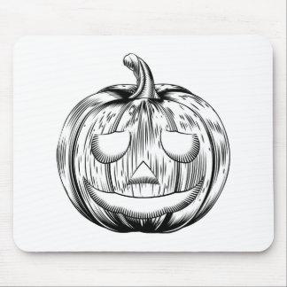 Vintage halloween pumpkin mouse mats