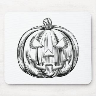 Vintage halloween pumpkin mousemats