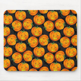 Vintage Halloween Pumpkin Pattern Mousepad
