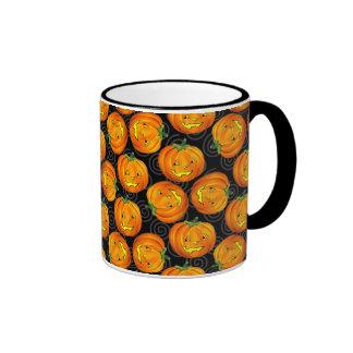 Vintage Halloween Pumpkin Pattern Mug