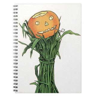 Vintage Halloween Pumpkin Spiral Notebook