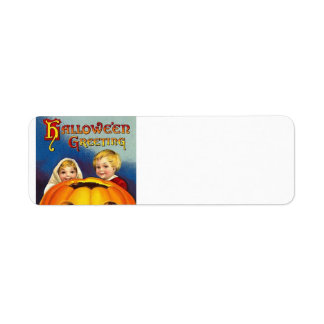 Vintage Halloween Return Address labels