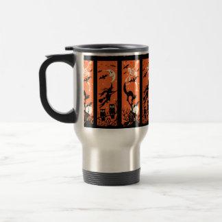 Vintage Halloween Silhouette Illustration Travel Mug