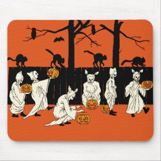 "Vintage Halloween ""Spooks On Parade"" Mousepad"