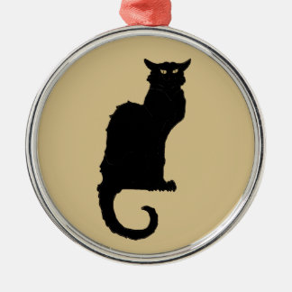 Vintage Halloween, Spooky Art Nouveau Black Cat Christmas Ornament