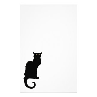 Vintage Halloween, Spooky Art Nouveau Black Cat Stationery