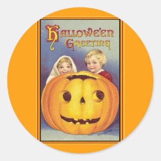 Vintage Halloween Round Stickers