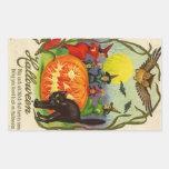 Vintage Halloween Sticker | Witch Cat