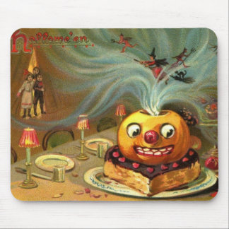 Vintage Halloween Table Mouse Pad