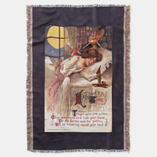 Vintage Halloween Time Throw Blanket