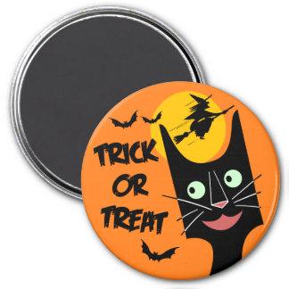 Vintage Halloween - Trick or Treat Black Cat 7.5 Cm Round Magnet