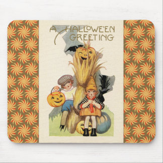 Vintage Halloween Trick or Treaters Mouse Pads