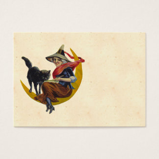 Vintage Halloween Witch Business Card