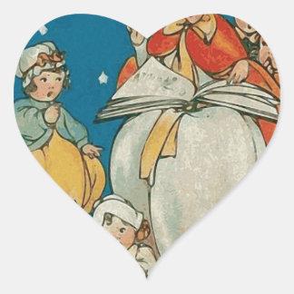 Vintage Halloween Witch Heart Sticker